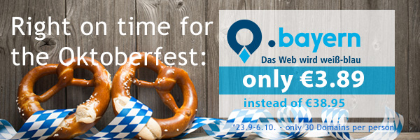 .bayern Domains only 3.89 for the first year