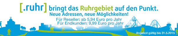 .ruhr for 9.90 EUR (1st year)